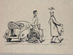 Volkswagen Funny Cartoon VW Bug Oval Window Vintage Empi 356 36hp Okrasa BRM GTV | eBay