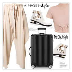 """""""Airport Style"""" by stranjakivana ❤ liked on Polyvore featuring STELLA McCARTNEY, Rimowa and airportstyle"""