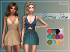 Trillyke: Blooming dress • Sims 4 Downloads