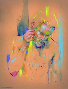 Marta Nael watercolor + pastel   Artbooks and originals: http://lux.edicionesbabylon.es