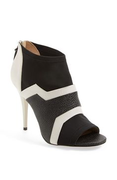 $325 too expensive but its actually a 3 1/2 inch heel more my height L.A.M.B. 'Deedra' Neoprene & Leather Bootie available at #Nordstrom