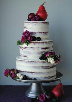 Semi naked red velvet cake