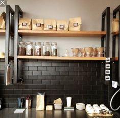 42 Extraordinary Black Backsplash Kitchen Design Ideas That You Should Try Restaurant Kitchen, Restaurant Design, New Kitchen, Kitchen Dining, Kitchen Decor, Design Kitchen, Black Kitchens, Home Kitchens, Rustic Kitchens
