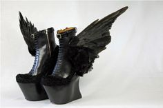 Masaya Kushino AW13,Winged, Platform Boots. See more unique shoes on Shoewonk.com.