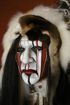 Make Up ★ Warpaint Native American Face Paint, Native American Models, Native American Pictures, American Indian Art, Native American History, Native American Indians, Native Americans, Red Indian, Native Indian
