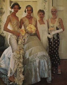 Amber Valletta's Wedding Photos - Ennvy.com. In the 90's, I cut this photo out of a magazine bc I wanted this wedding dress