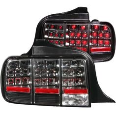 Anzo USA 321020 Ford Mustang Black LED Tail Light Assembly - (Sold in Pairs) - http://musclecarheaven.net/?product=anzo-usa-321020-ford-mustang-black-led-tail-light-assembly-sold-in-pairs