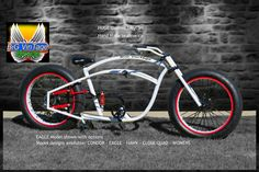 "New Website Intro Page Image. ""EAGLE"" BiG VinTage Bicycles Old school Rat Rod Bikes Beach Cruiser Balloon Tire fat tire steam punk HUGE Custom Bikes Electric e-bike balloon tire bicycle"
