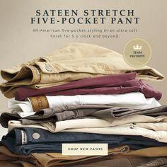 Team Favorite: Sateen Stretch Five-Pocket Pants Peter Millar
