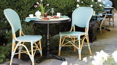 Frontgate Paris Bistro Collection Set of Two Paris Bistro Side Chairs - $379 (Comes in 5 colors: Capuccino, Capri Blue, Navy, Red, and Washed Jade)