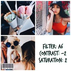 // bright filter ⠀ ❁ looks best with: everything, especially colorful pictures! ⠀ ❁ ps: a6 is free in the vsco store! ⠀ ❁ pss: enter my giveaway to win all of the vsco filters for free! details on the sixth row of my feed
