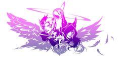 League of Legends - The lovebirds by Paddy-F on DeviantArt - Yıldız Fırsat League Of Legends Characters, Lol League Of Legends, Fictional Characters, Amazing Drawings, Amazing Art, Rakan Lol, Overwatch Fan Art, Blue Aesthetic, Love Birds