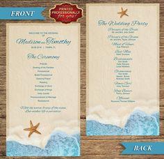 Destination wedding programs printed Cheap programs for wedding