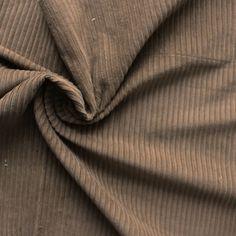 Tissu en velours côtelé brun - Les tissus du Chien Vert