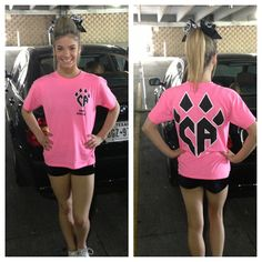 <3 the pink CA shirts!!