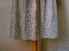 Lace dress extender Taupe Gray under skirt lace light grey skirt layer dress lace extender sheer see through skirt