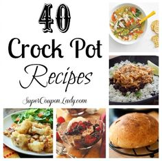 40 #CrockPot #Recipes