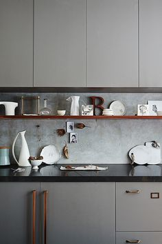 grey-cement-wood | inside out. Let's get ecletic luxury and elegant kitchens using modern, vintage or traditional decor elements and modern furniture. See more home design ideas at: http://www.homedesignideas.eu/ #interiors #contemporary