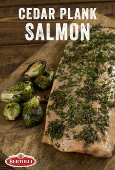 Not Your Mamma's Brussels Sprouts followed by the Summer Catch of the Day: Cedar Plank Grilled Salmon, both of which use Bertolli® Extra Virgin Olive Oil & Extra Light Tasting Olive Oil Spray! Can we get a hip hip...