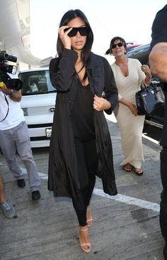 Kim, Kendall & Kris at LAX - July 31, 2014
