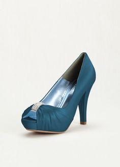 Image result for diana bridal shoe peep toe