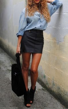 How to Wear a Leather Skirt Right Now                                                                                                                                                     More