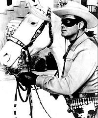 """Clayton Moore in the TV show """"The Lone Ranger."""" Hi-yo, Silver, away! In anticipation of Disney's big-budget """"The Lone Ranger,"""" starring Johnny Depp as Tonto and Armie Hammer as the Masked Man, opening July DreamWorks Classics is returning to the vi Photo Vintage, Vintage Tv, Vintage Photos, Movies And Series, Tv Series, John Hart, Vintage Television, Old Time Radio, The Lone Ranger"""