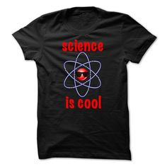 New funny Science is cool blue atom t-shirt for Geeks and Nerds