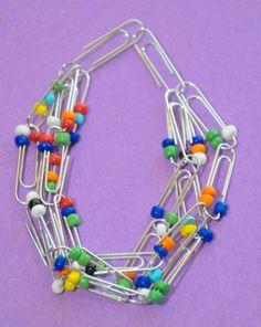 Get Moving Recycling: Paper Clip Bracelet