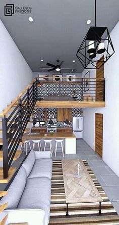 Loft House Design, Tiny House Loft, Best Modern House Design, Small House Interior Design, Small Space Design, Modern Tiny House, Tiny Houses, Modern Loft, Interior Modern