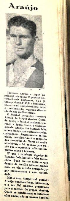 Uncle Araújo in 1959's news article. Futebol Clube do Porto (FCP).