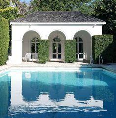 El Vedado | Palm Beach, FL. The pool house. Consuelo Vanderbilt Balsan.