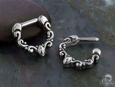 Steel Florid Septum Clicker Septum Piercing Jewelry, Septum Clicker, Lip Piercing, Septum Ring, Piercings, Body Jewelry Shop, Lip Rings, Jewelery, Bronze