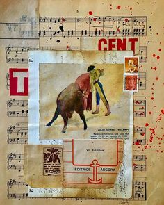 Collage with vintage papers by Carin Andersson