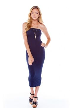 bbf1ededbda Veronica M Navy Blue Drop Waist Jumpsuit