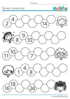 ejercicio series numericas para niños  #numeros #matematicas #series