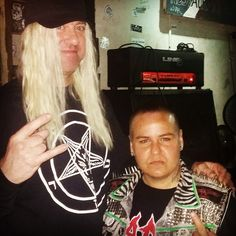 Jamie Avery from Amenorrhea with Eric Hoffman from Amon/Deicide