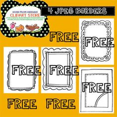 4 FREE Doodle Frames and Borders for Personal and Commercial Use