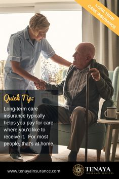 Quick Tip:  Long-term care insurance typically helps you pay for care where you'd like to receive it.  For most people, that's at home.  When you put a plan in place to ensure that you will be able to receive care how and where you want to, you stay in control.  When you fail to plan, this is when you risk having things dictated for you.  It can mean a loss of independence, power, and control. This can be avoided.  #longtermcareinsurance  #lifeinsurance  #estateplanning  #moneytips Long Term Care Insurance, Life Insurance, Social Work, Money Tips, Health Care, Finance, How To Plan, People, Economics