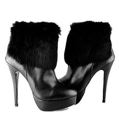 Black Beaded Leather Stiletto Heel Boots | Dress To Wear Today