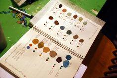 Fay's Work Book at a colour workshop at Malenka Originals in Ottawa, Canada