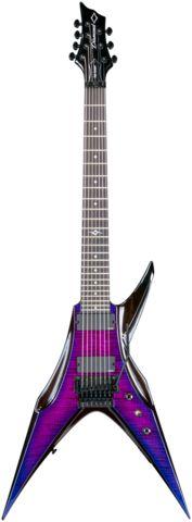 2015 Diamond Guitars Bird of Prey FM-FR Electric Guitar - Ultraviolet Extended Scale Dean Guitars, Fender Guitars, Fender Stratocaster, Custom Electric Guitars, Custom Guitars, Dbz, Seagull Guitars, Bass Guitar Lessons, Unique Guitars