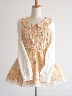 LIZ LISA Autumn Winter Floral OP Dress See-through Hime gyaru Lolita Size0 Japan #LIZLISA #Peplum #Party