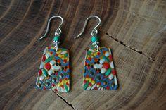 Vintage cookie tin earrings by lorikovash on Etsy, $25.00