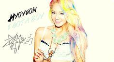 This is really pretty :3 #snsd #Hyoyeon #girlsgeneration #igotaboy