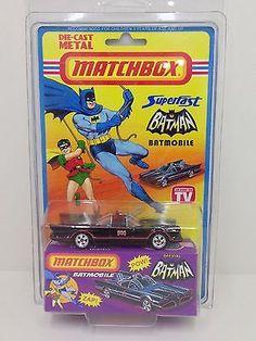 1966 Vintage Lesney Matchbox Batman & Robin Batmobile Superfast Super Rare Now