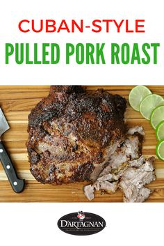 Making this great tasting Cuban-style pork roast couldn't be easier. Our ultra-marbled Berkshire pork shoulder gets an aromatic wet rub and slow roast for juicy meat that easily shreds with a fork. This dish is excellent over rice with plantains on the side, or in sandwiches, tacos, and salads.