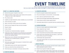 Planning An Event - Timeline - Bravo! Event