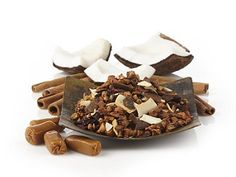 Caramel Almond Amaretti Herbal Tea from Teavana is wonderful, soothing and tastes amazing with their Rock Sugar.