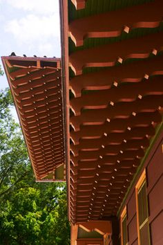 1000 images about pergola rafter tail ideas on pinterest for Decorative rafter tails